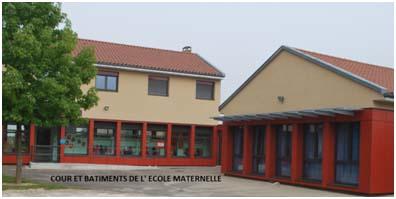 Photographie de l'école maternelle de Saint-Jean-le-Vieux