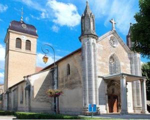 Église de Saint Jean Baptiste à Saint-Jean-le-Vieux édifiée au début du XVème siècle (1420-1430)