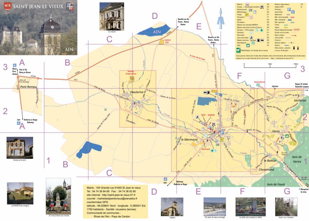 Plan de Saint Jean le Vieux dans l'Ain (recto)