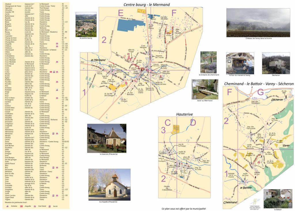 Plan de Saint Jean le Vieux dans l'Ain (verso)
