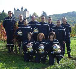 Photographie des pompiers de Saint-Jean-le-Vieux