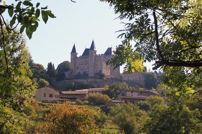 Vue du château de Varey à Saint-Jean-le-Vieux